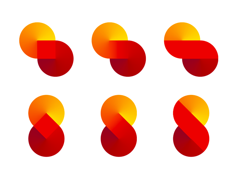 S super loop series logo design symbol exploration by Alex Tass