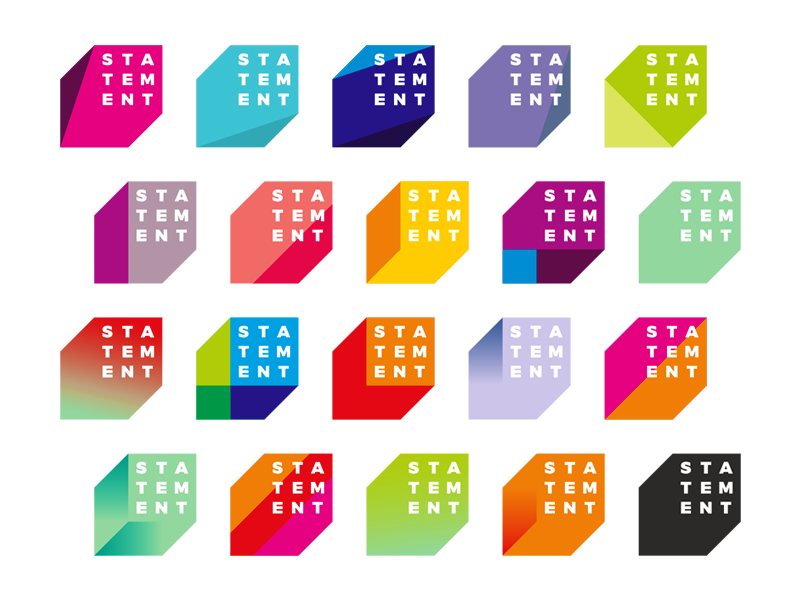 Statement electronic music events organizer dynamic logo design by Alex Tass
