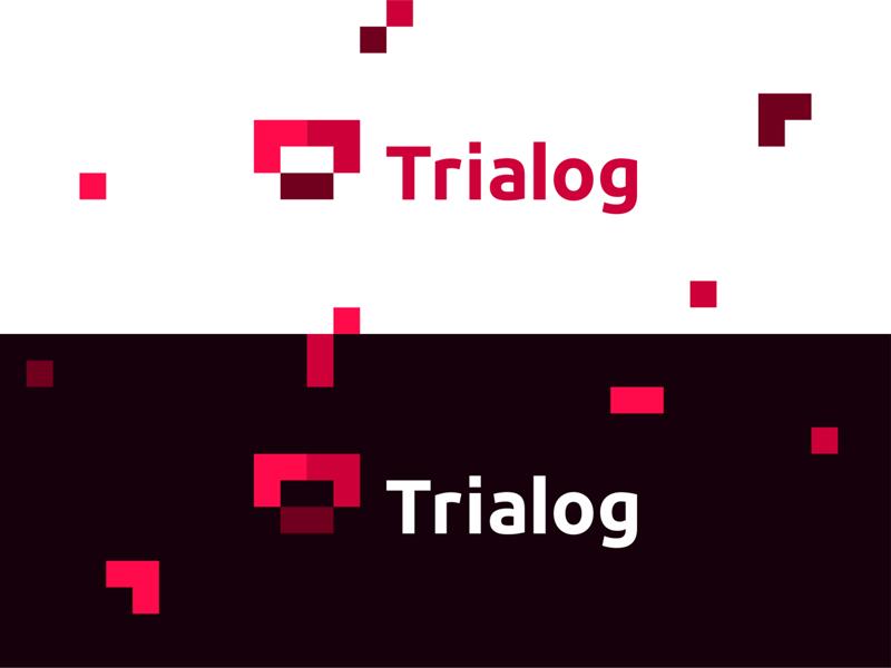 Trialog (TR AI Software dialog) logo design T + modules by Alex Tass