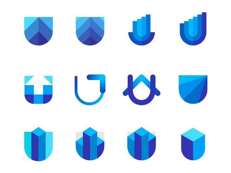 U letter skyscraper mark capital finance logo design by Alex Tass