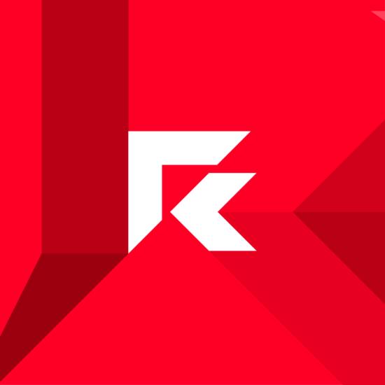 Red by AMD computer manufacturer technology developer logo design by Alex Tass